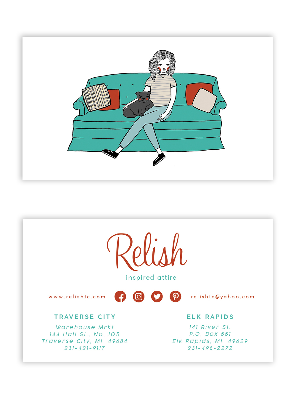 Custom Designed business cards by em randall