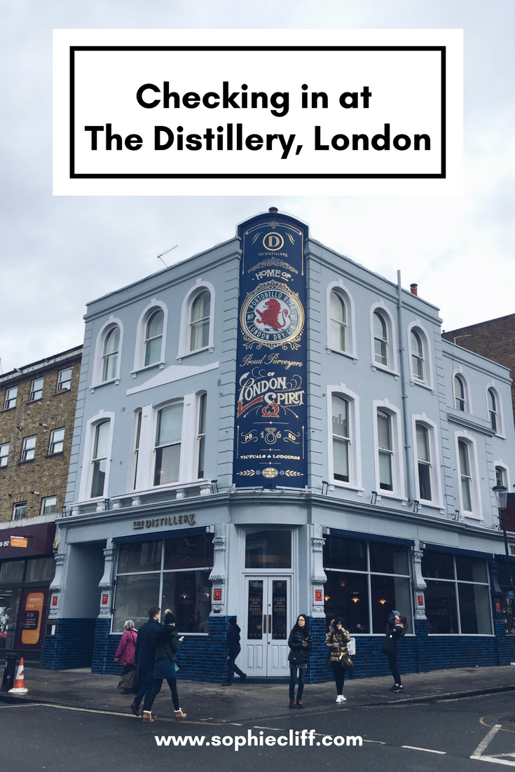 Checking in at The Distillery, London