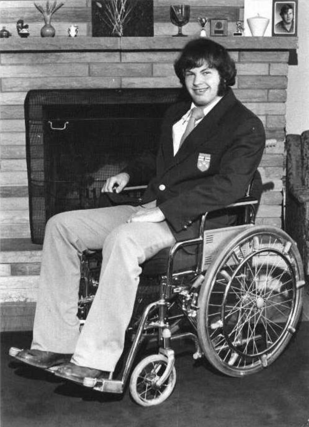 Paul, 1974, one year after the diving accident