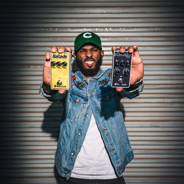@freakyrob_music guitarist for @kendricklamar with the Ballade and Echo Sex Baby! Which one do you have? #foxgear #pedals #effects #effectpedals #ballade