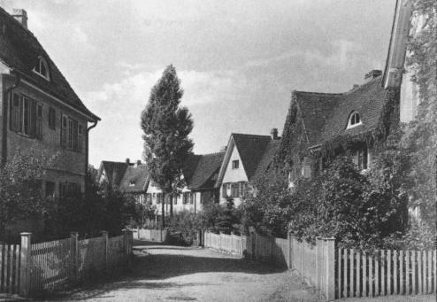 Heinrich Tessenow, Richard Riemerschmidt, Hermann Muthesius et al., Gartenstadt Hellerau, Dresden (ab 1909).