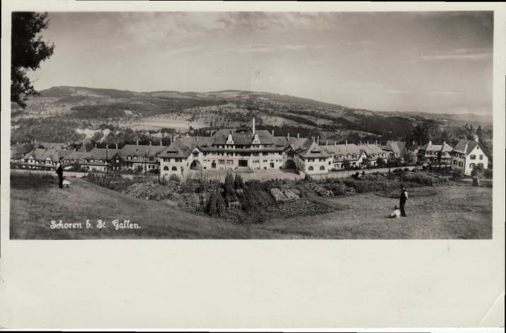 Paul Robert Gerber, Siedlung «Schoren» der Eisenbahnergenossenschaft St. Gallen (1909–1914).