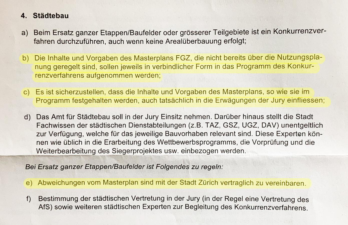 Auszug aus dem Rahmenvertrag (bereinigte Fassung vom 3. Mai 2019), Seite 4.