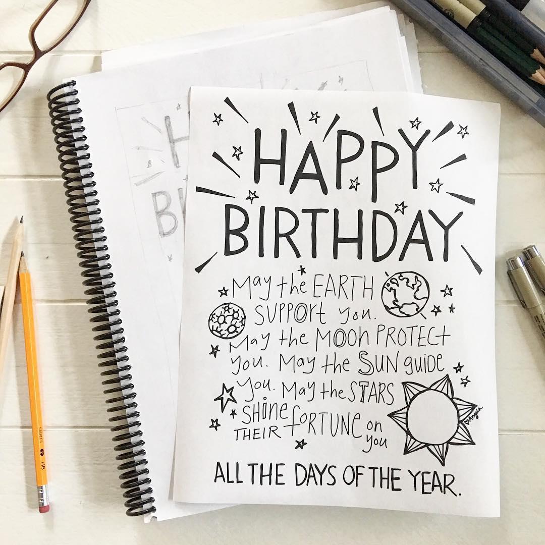Happy Birthday Blessing by Angela May Waller via www.angelamaywaller.com