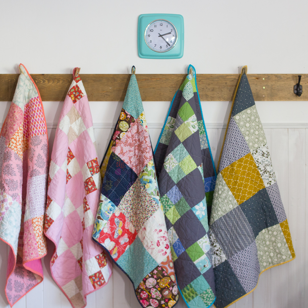 Completed Baby Quilts from Hello, Quilting! via www.angelamaywaller.com