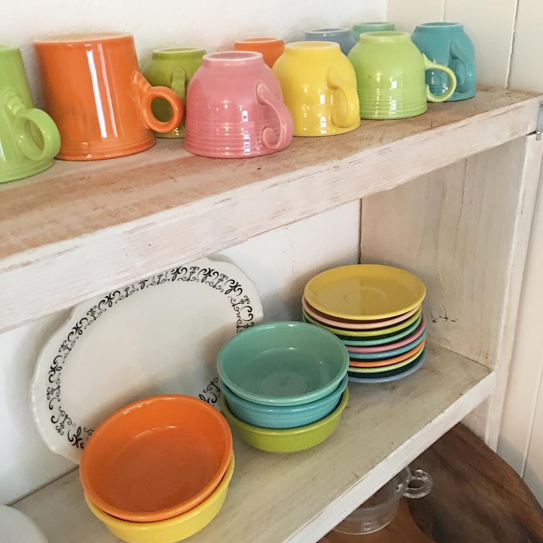 Fiestaware Collection from Cottage Magpie via www.angelamaywaller.com
