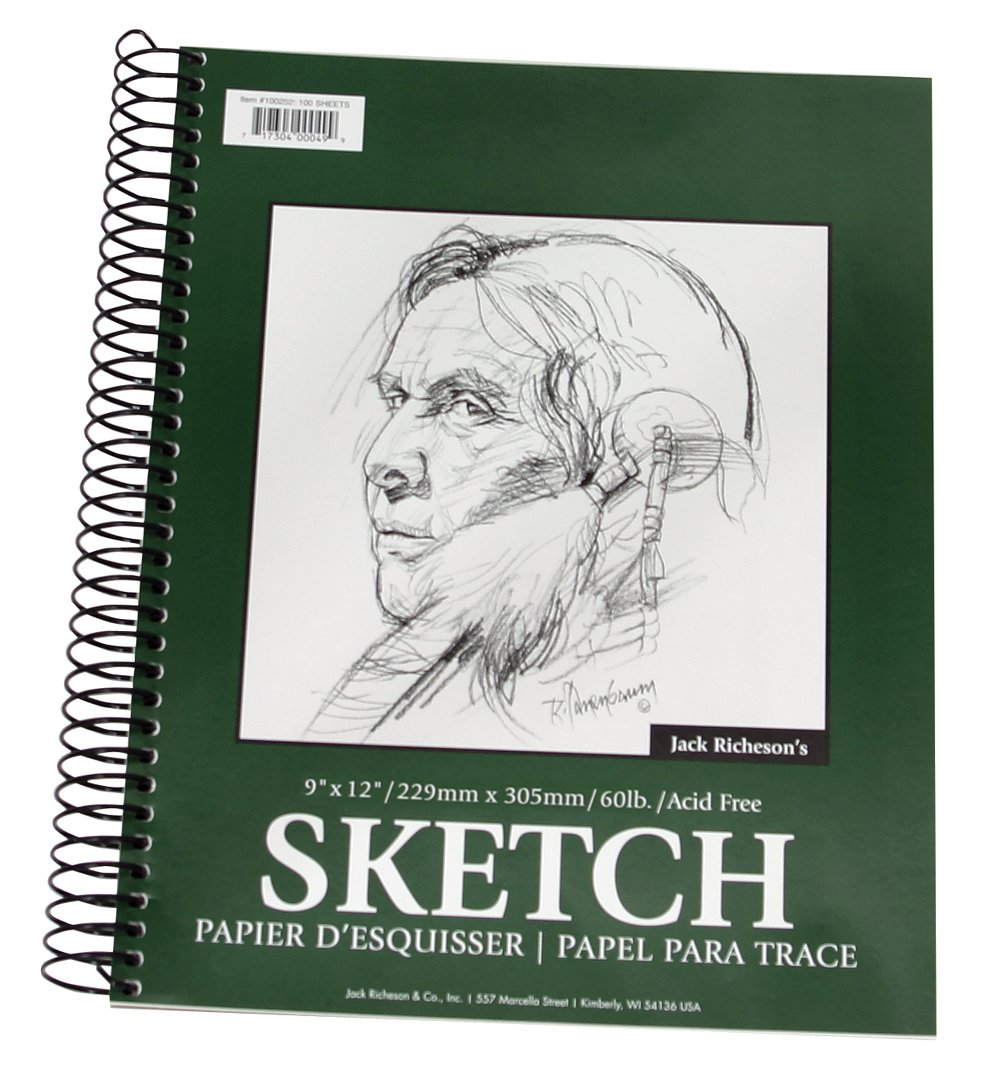Jack Richeson 100 Sheet Spiral Drawing Paper Pad 9x12 via www.angelamaywaller.com