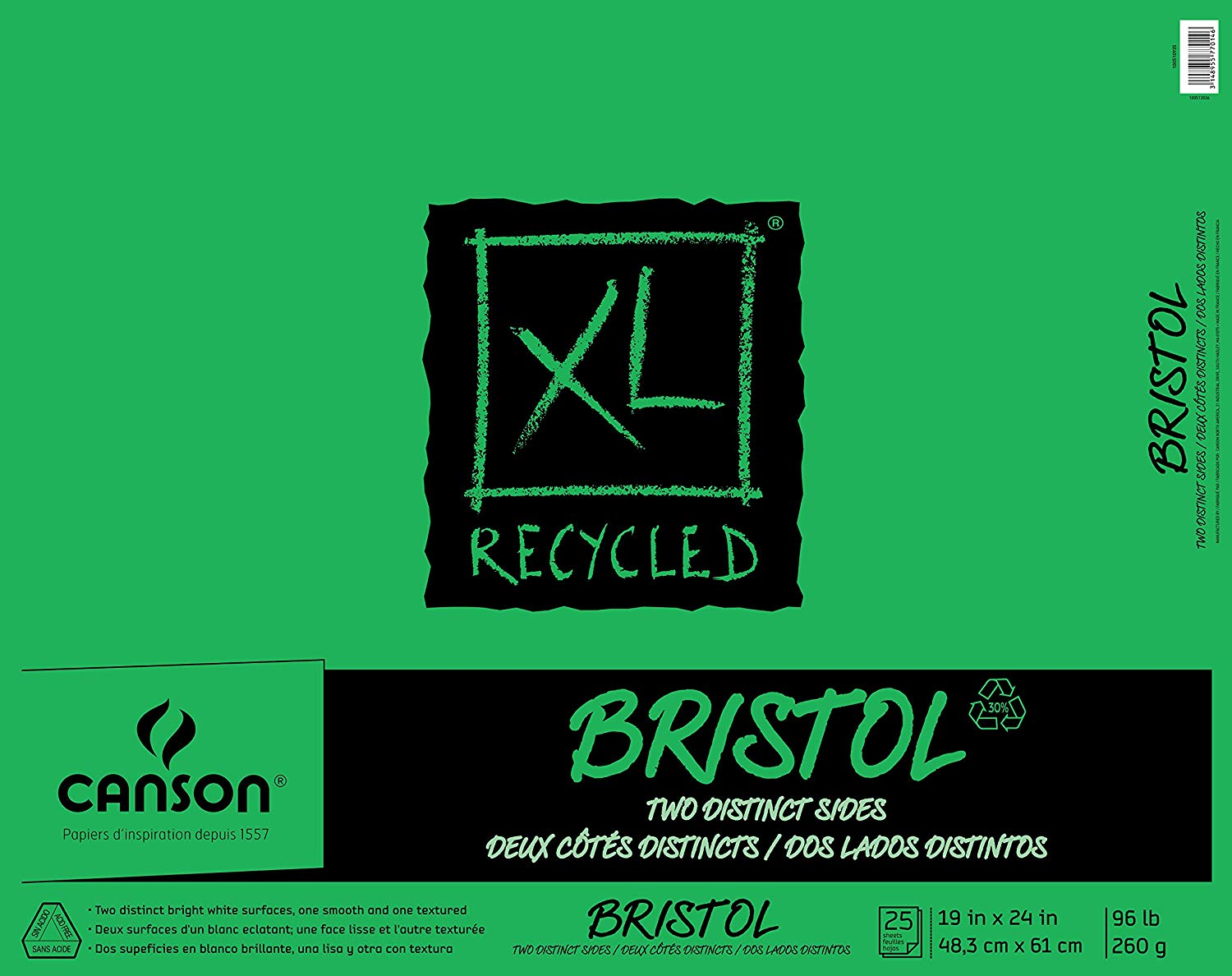 Canson XL Series Recycled Bristol Paper Pad via www.angelamaywaller.com