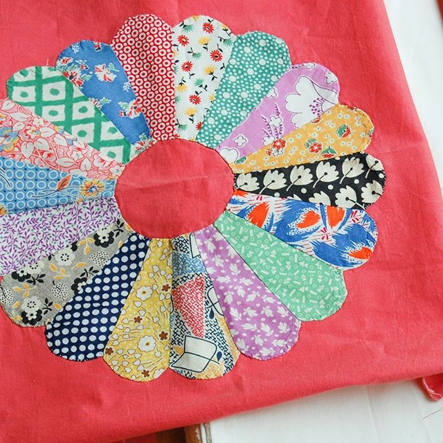 Gosh, these vintage quilt blocks are cute. I've been hanging on to them for years!! I need to make them into a quilt.