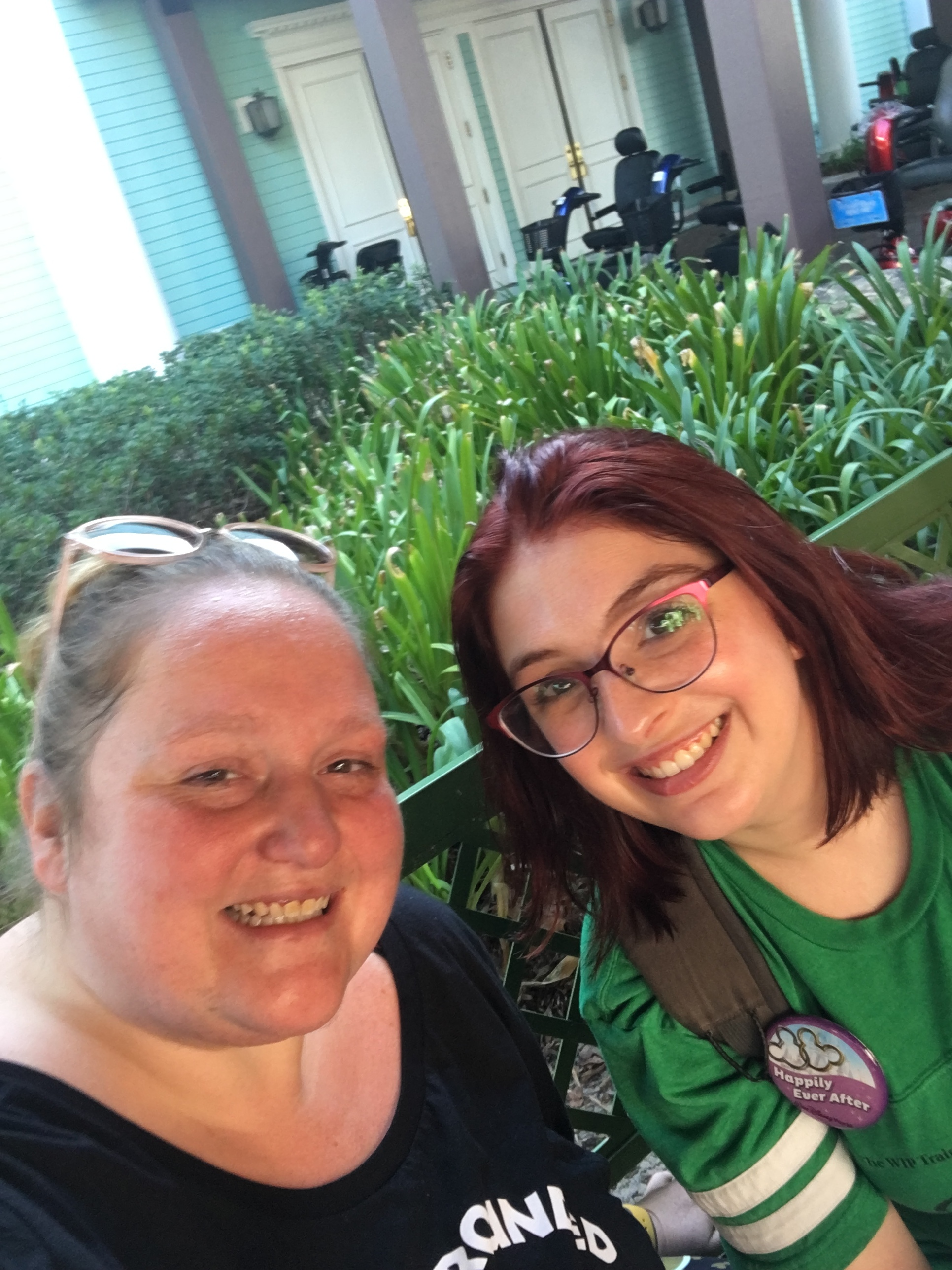 Erin & Hannah at Disney World bringing students down for workshops and to perform!