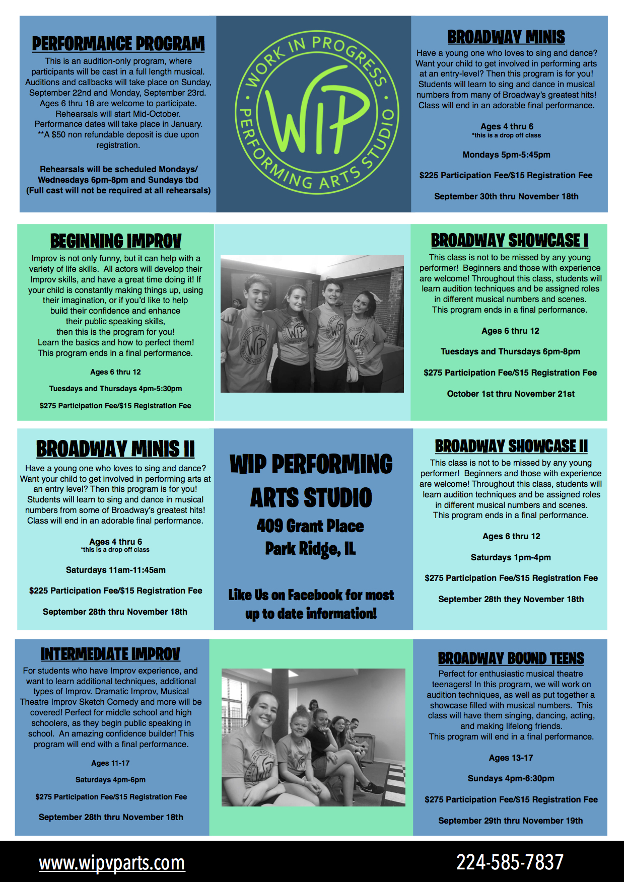 REGISTRATION WILL BEGIN MONDAY AUGUST 19th!!!!  QUESTIONS please email us at wipperformingarts@gmail.com!!!