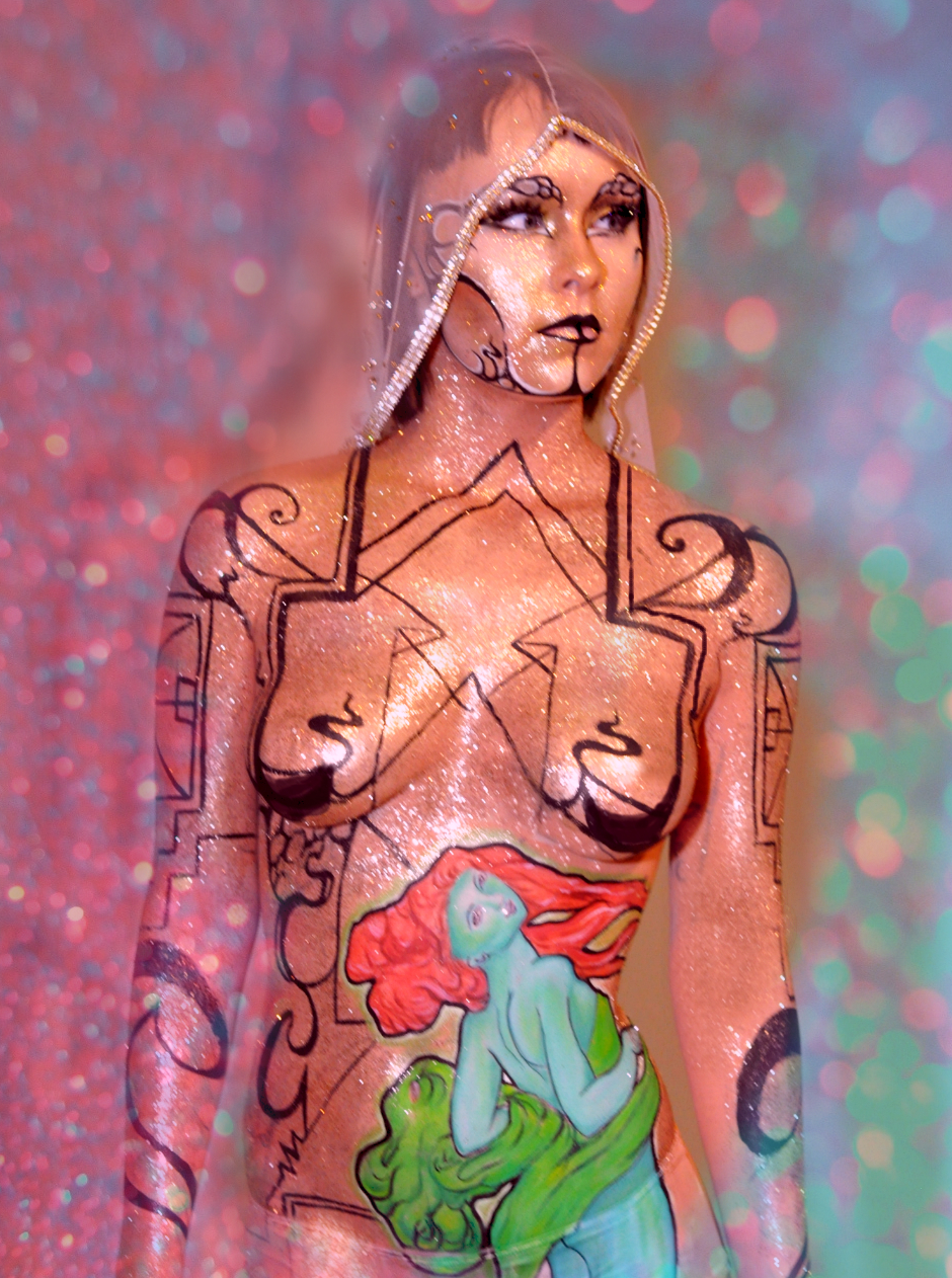 body painting glitter