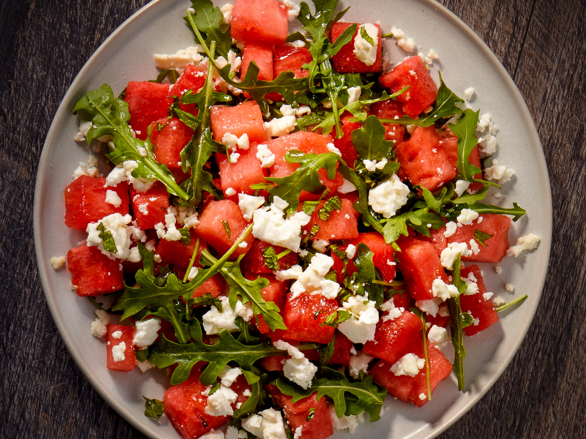 Watermelon Feta Salad with Mint