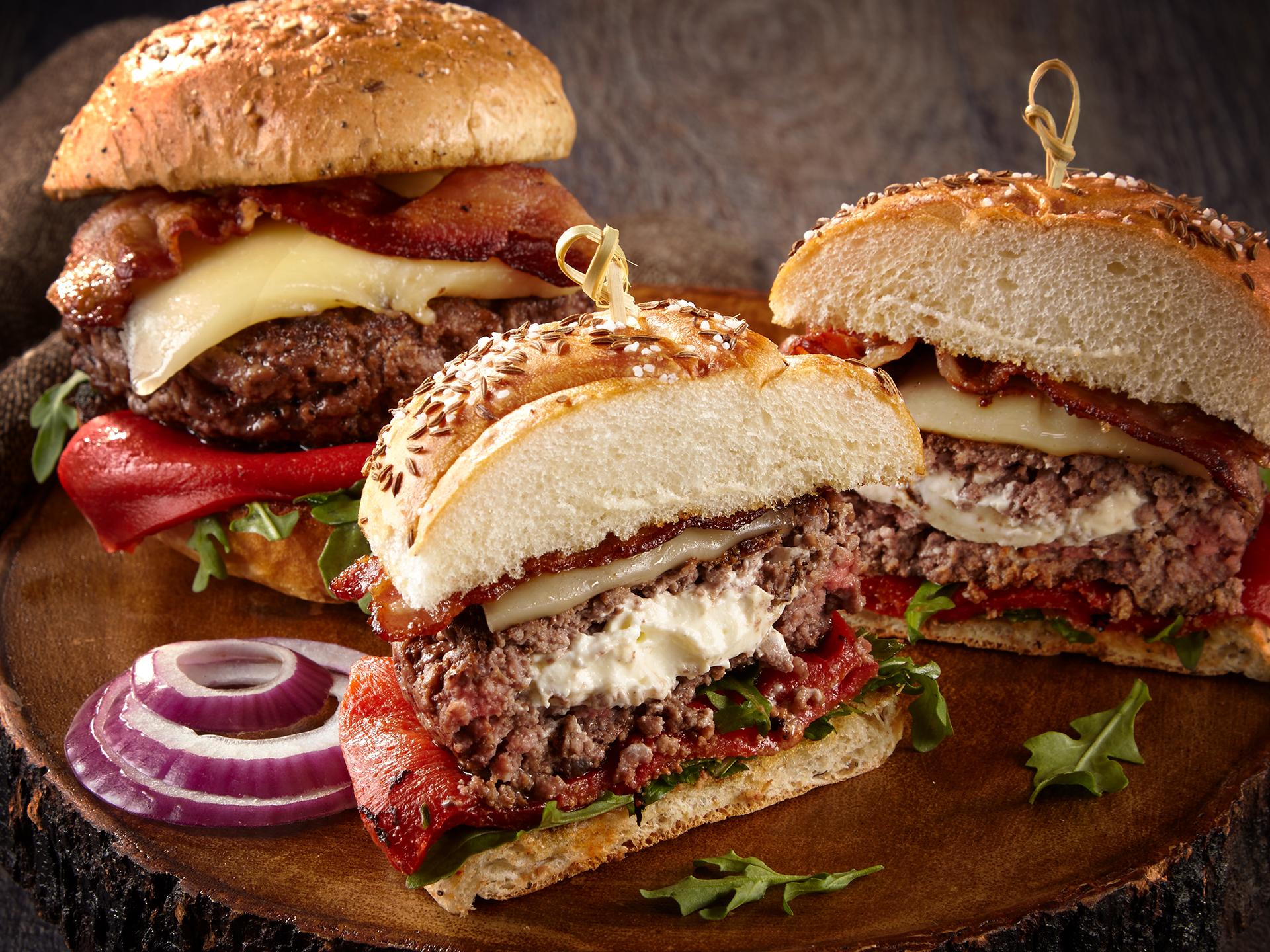Stuffed Feta Burgers