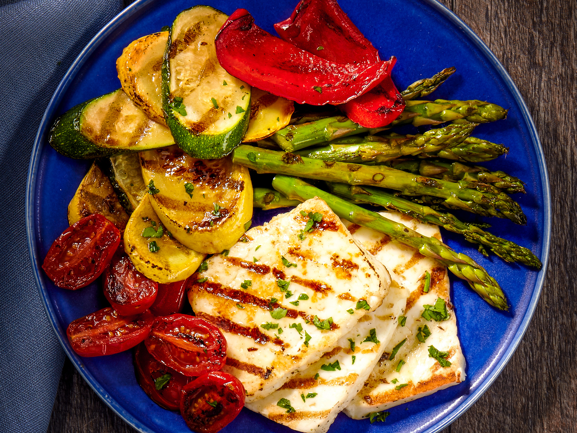 Grilled Halloumi with Vegetables