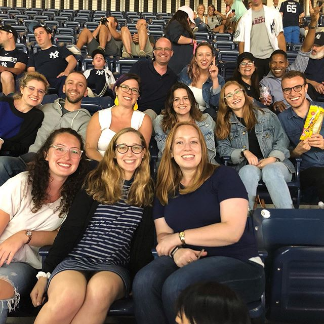 @cbhillel staff head out to the ball game before the school year begins ! @newyorkyankeesoffcicial #takemeouttotheballgame ⚾️