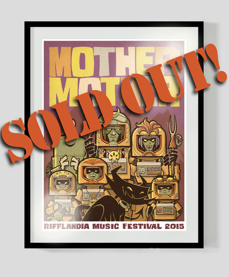 "****SOLD OUT******  ""MOTHER MOTHER"" OFFICIAL RIFFLANDIA MUSIC FESTIVAL 18"" x 24"" POSTER (ARTIST PROOF)  18"" x 24"" (45.7cm x 61cm)  Official 2015 Rifflandia Music Festival poster, limited edition Artist Proof (only 10 made) signed and numbered. High quality, professionally printed poster on heavyweight 180 gsm semi-gloss paper stock. Shipped rolled in a cardboard shipping tube."