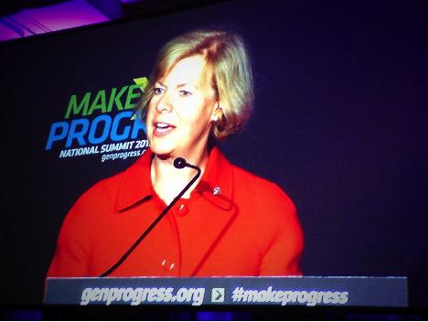 Senator Tammy Baldwin at the Make Progress National Summit 2013. Photo taken by Kaitlin Rattigan