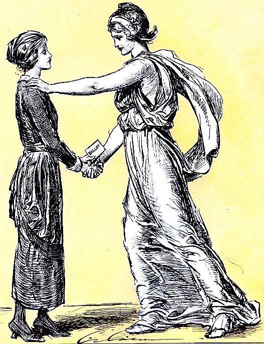 women's suffrage in cartoon