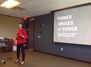 Take The Lead President and Co-Founder Gloria Feldt demonstrates how to employ power to accomplish something.