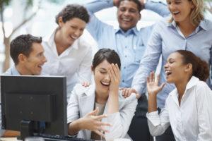 Humor at work is a good thing, as long as you never make jokes at anyone's expense.