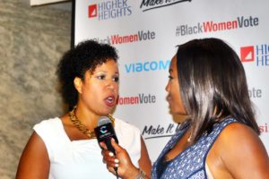 Kimberly Peeler-Allen (left), co-founder of Higher Heights For America, aims to increase engagement with #BlackWomenLead.