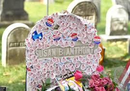 Thousands visited the gravesite of Susan B. Anthony on the recent election day, to celebrate the chance to vote for a woman.