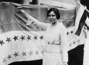 Alice Paul toasting (with grape juice) passage of the 19th Amendment