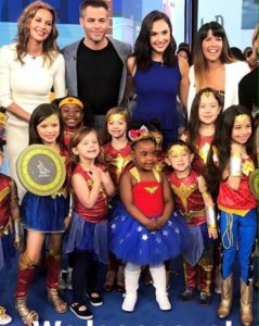 """Actor Chris Pine tweeted this photo of young fans with the cast and director Patty Jenkins of """"Wonder Woman."""""""
