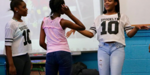 Funny Girls partners with Global Kids, New York, in a girls leadership program.