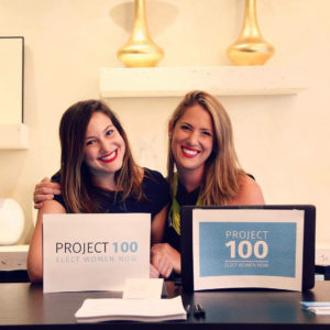Isabel Kaplan, left, and Danielle Gram, right, co-founders of Project 100, want to help women run for Congress.