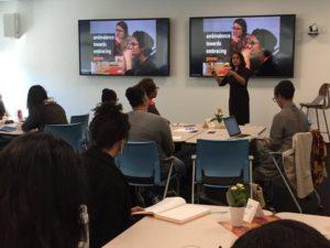 Leadership Ambassador Shalini Sardana led a Powertopia workshop on Take The Lead Day.
