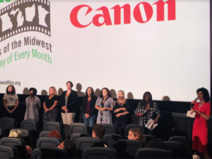 Amy Guth (far right) and the all-female group of directors at the first female filmmakers festival in the Midwest.