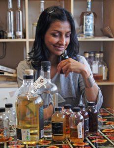 Litty Mathew co-founded Greenbar Distillery.