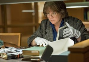 """Melissa McCarthy plays Lee Israel in """"Can You Ever Forgive Me?"""" who turns to crime to pay the rent."""