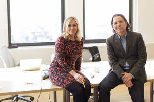 Judith Carr- Rodriguez, CEO of FIG, with co-founder Mark Figliliulo.