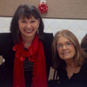 Gloria Feldt with lifelong friend, Gloria Steinem.