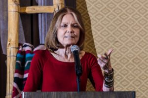Gloria Steinem speaking at JAWS 2012. (Photo by Nina Zacuto.)