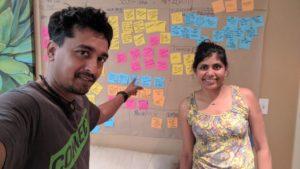 Priya Rajendran (r) with S'moresUp co-founder Sen Reeves Xavier.
