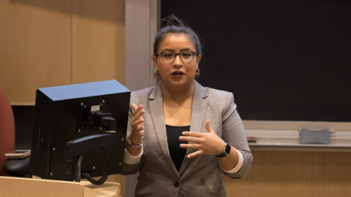 Dior Vargas, Latina Feminist Mental Health Activist, at a speaking engagement. Click  here  to follow her work.