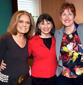 Victoria Pynchon (far right) with Gloria Steinem and Gloria Feldt.