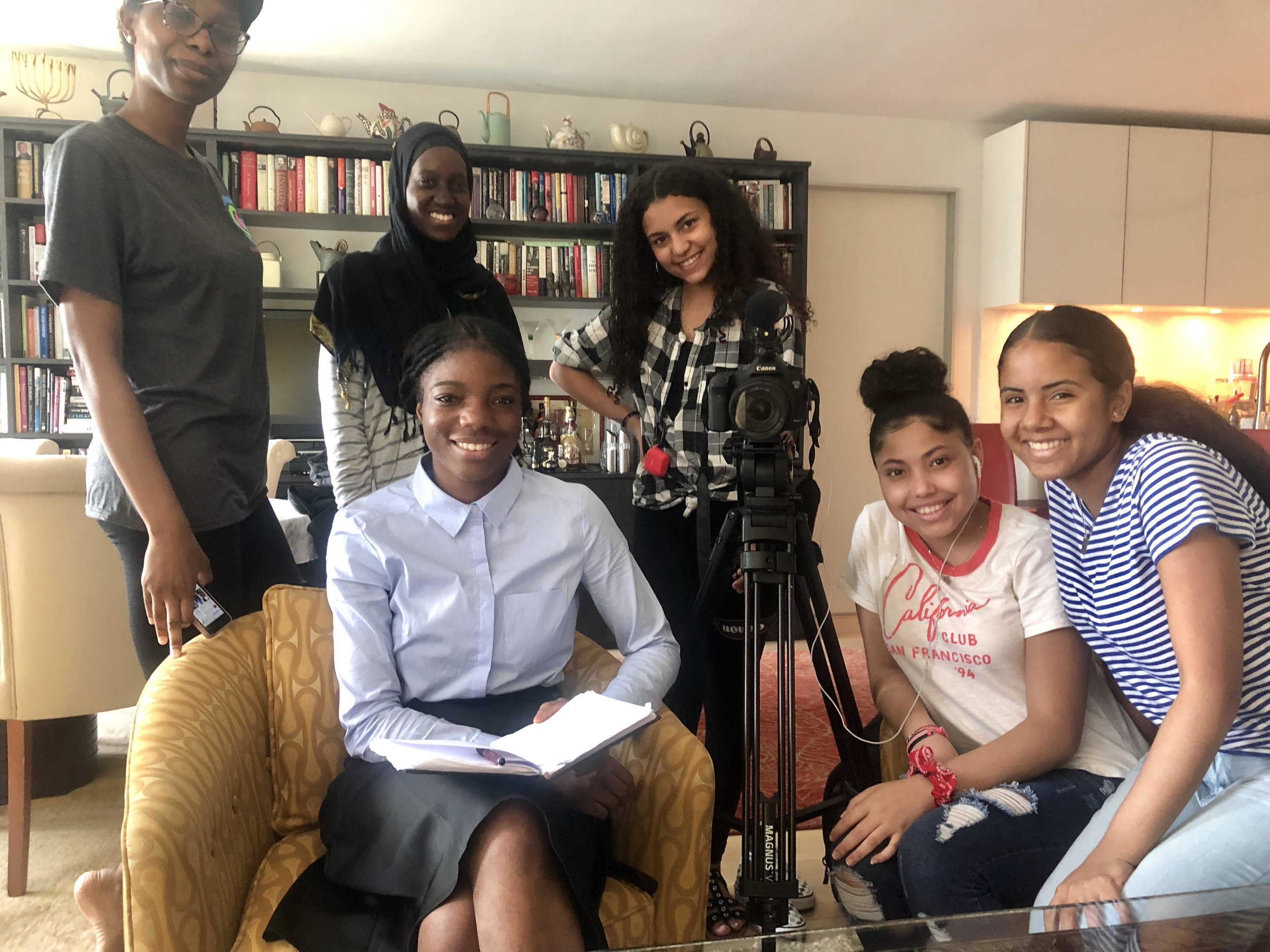 These young women representing  Global Girl Media  came to interview me this week with lots of questions about the pluses and minuses of aging for women.