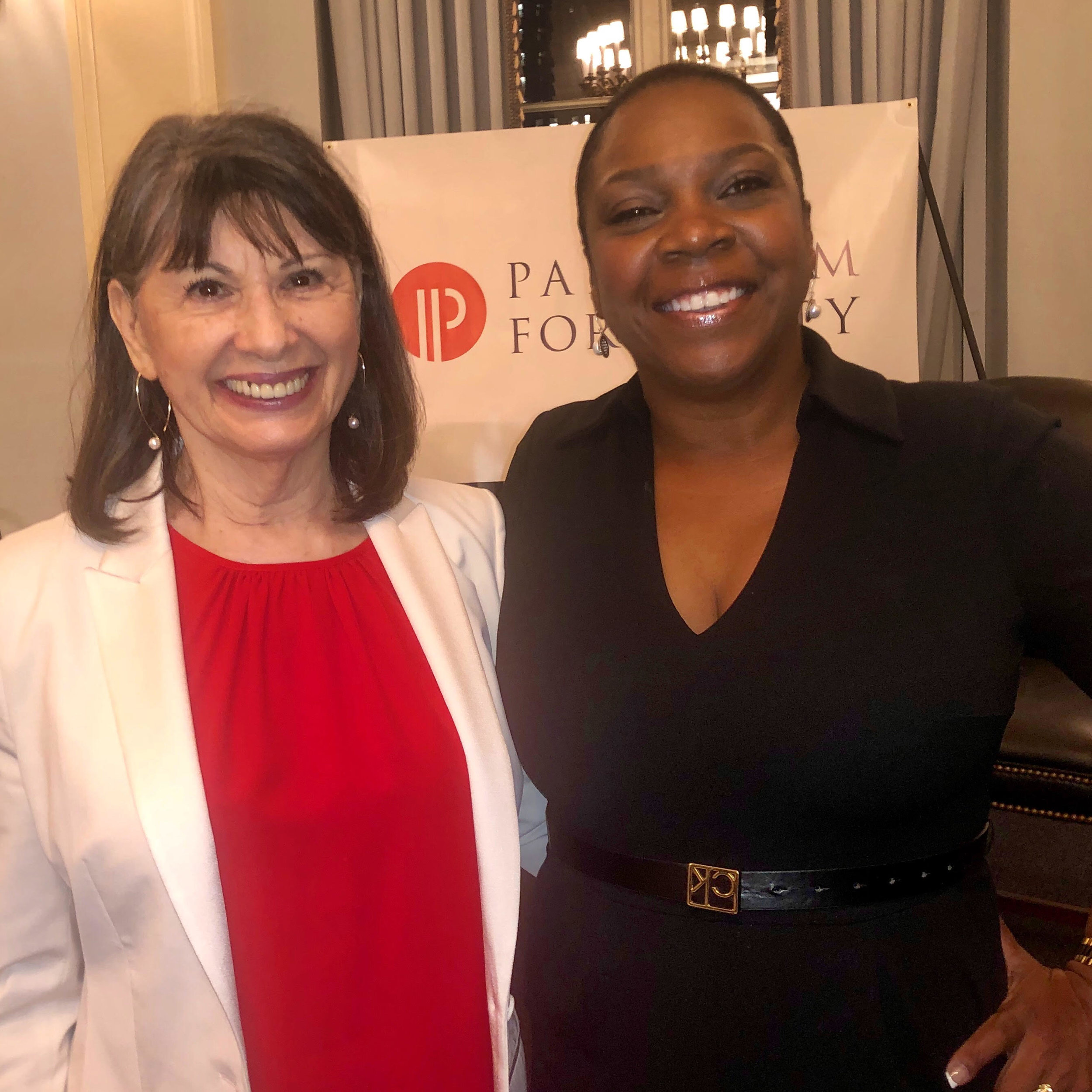 With Sheila Robinson, founder and president of Diversity Woman Media (and a Take The Lead board member) at  Paradigm for Parity.
