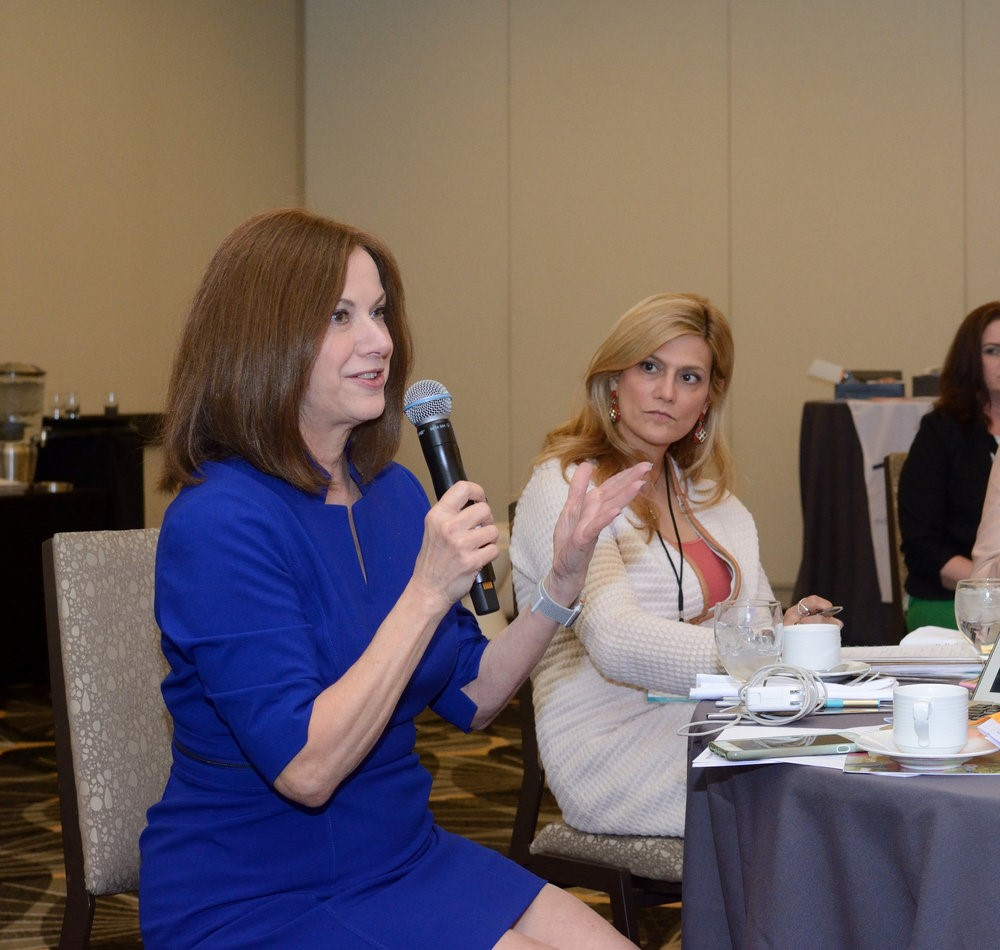 Trish Costello, CEO of Portfolia, at the recent Portfolia Summit.