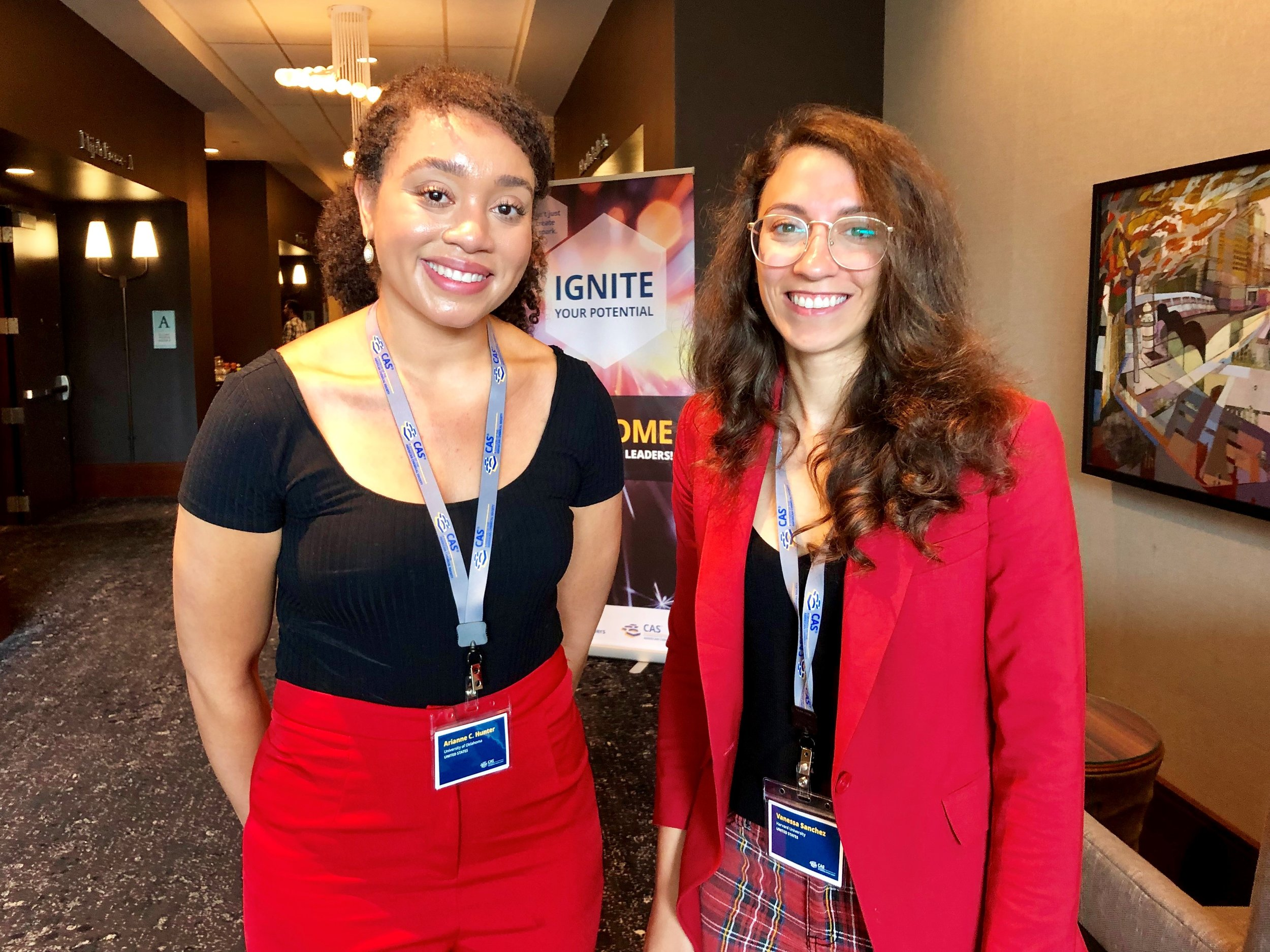 Arianne Hunter (left) and Vanessa Sanchez are leaders in STEM giving back and moving forward.