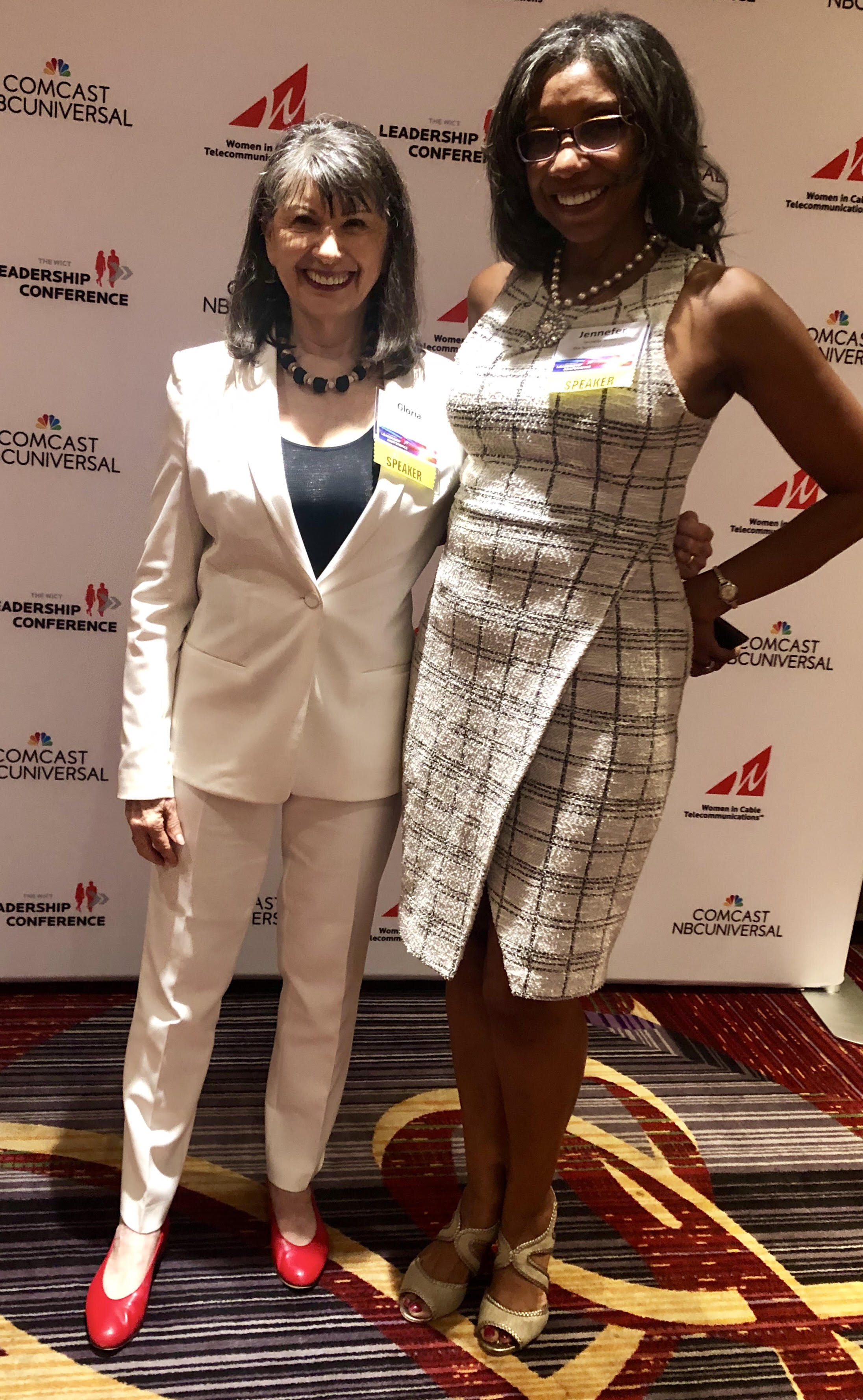 At the WICT step and repeat with Boreland Group President Jennefer Witter.