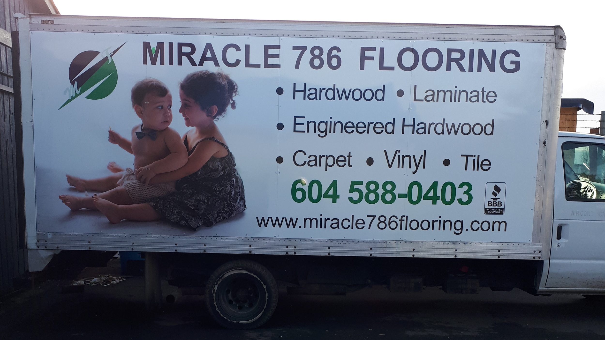 Miracle 786 Flooring - Vinyl car graphics.