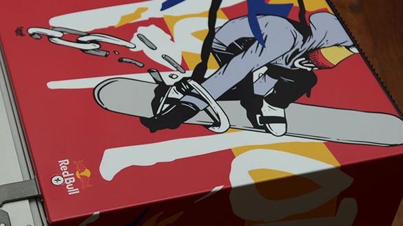 Red Bull - Custom Red Bull fridges for seven Red Bull Canada athletes.