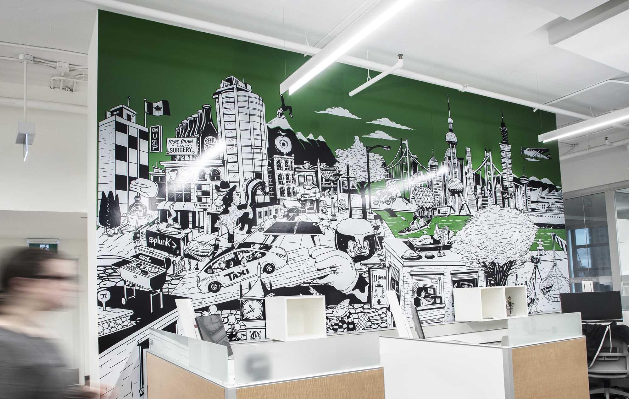 Splunk Technology - Vinyl art and wall panels for Splunk Technology.