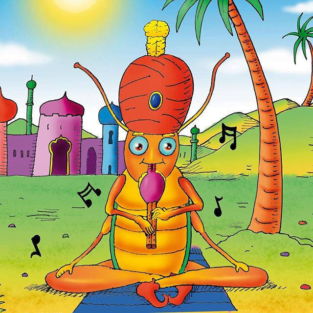 Gobi Grasshopper plays the pungi for a rather special job – he makes snakes dance! This can be tricky, as not all snakes enjoy dancing. So when the snake wouldn't come out of the pot, he got worried. But Gobi always gives it a go, and stays hopeful that everything will be okay. Did the snake come out of the pot?